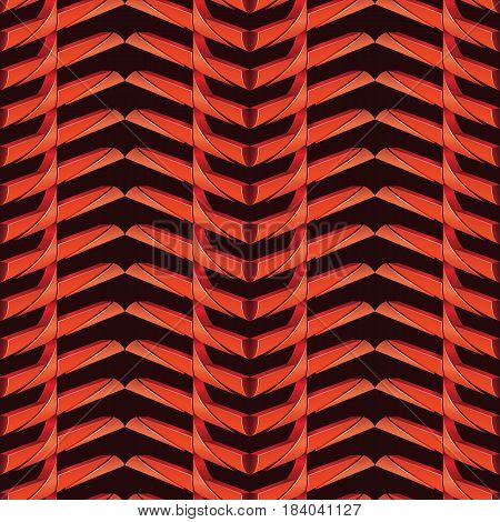 vector wave red colors metal background pattern