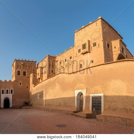 Courtyard of Taourirt Kasbah in Ouarzazate - Morocco