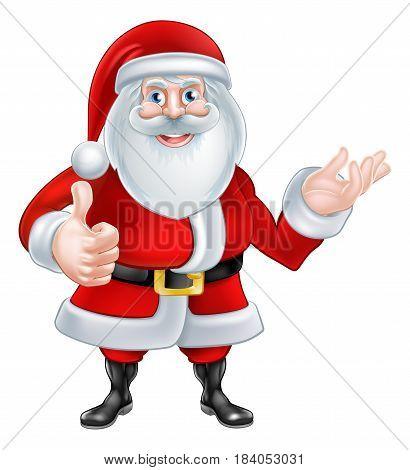 A Christmas cartoon illustration of Santa Claus