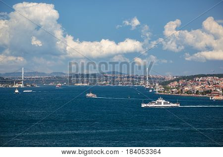 The View Of The Bosphorus From The Topkapi Palace. Istanbul.