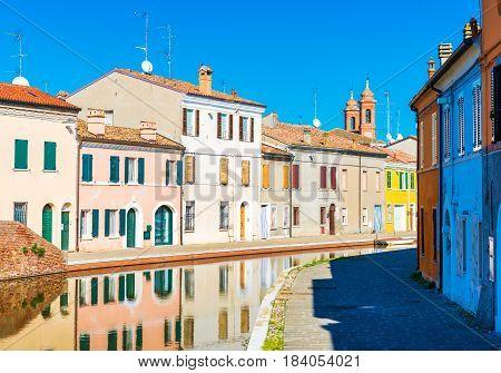 Small Italian town Comacchio, also known as