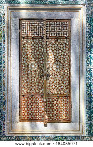 Doors With  Nacreous Inlayin In Harem Of Topkapi Palace, Istanbul