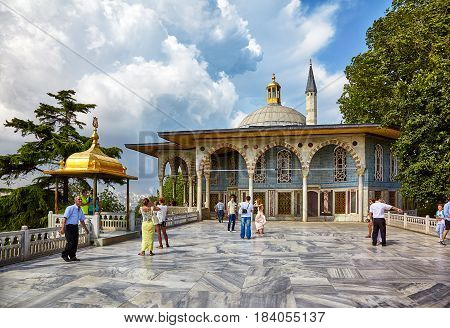Marble Terrace In Topkapi Palace, Istanbul