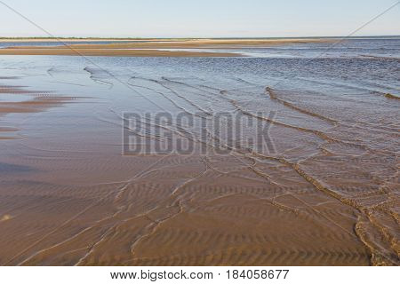 shallows in the Lena river in Siberia