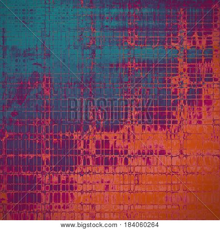 Elegant vintage background, antique texture. Designed grunge template with different color patterns: blue; red (orange); purple (violet); pink