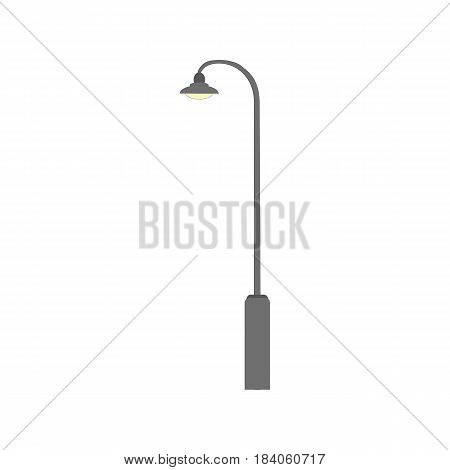 Street light sign icon. New design electricity classic light furniture. Street electric lamp. Graphic flat illustration