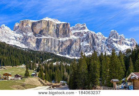Italy Dolomites the mountains of the Sella group