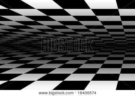 abstract black and white fields