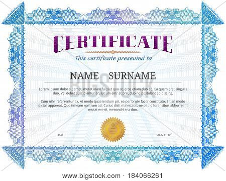 license certificate template