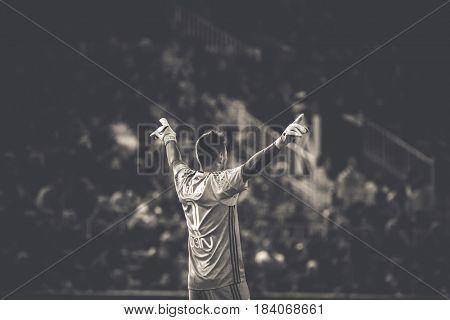 VALENCIA, SPAIN - APRIL 26: Diego Alves during La Liga match between Valencia CF and Real Sociedad at Mestalla Stadium on April 26, 2017 in Valencia, Spain