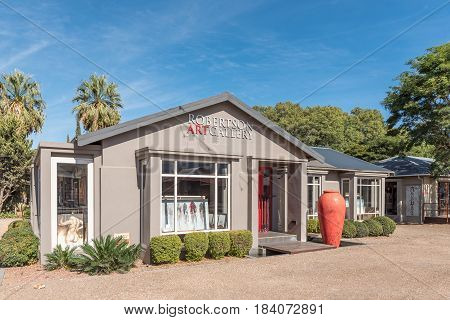 ROBERTSON SOUTH AFRICA - MARCH 26 2017: An art gallery in Robertson a town on the scenic Route 62 in the Western Cape Province