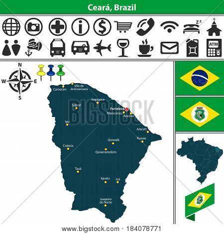 Map Of Ceara, Brazil