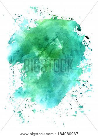 Turquoise abstract watercolour background texture. Scalable vector graphic