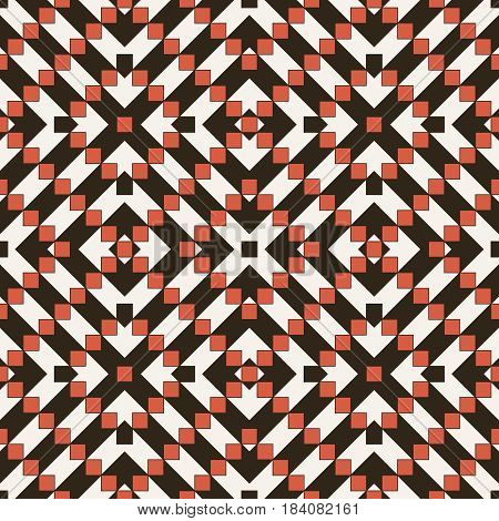 Vector seamless pattern. Modern stylish texture in the form of rhombus tiles. Regularly repeating geometric shapes squares. Vector element of graphical design