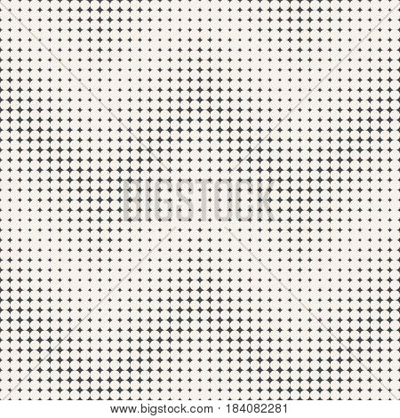 Vector Seamless pattern. Abstract halftone background. Modern stylish texture in the form of waves. Repeating tiled zigzag grids with rhombuses of the different size. Gradation from bigger to smaller