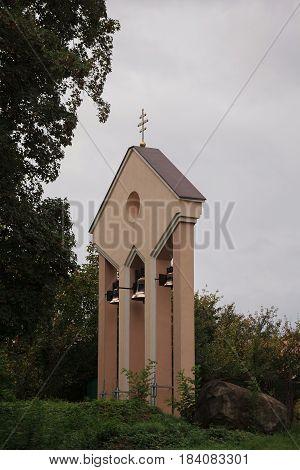 Ancient church bells on belfry tower church bells