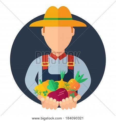 Man Farmer Icon