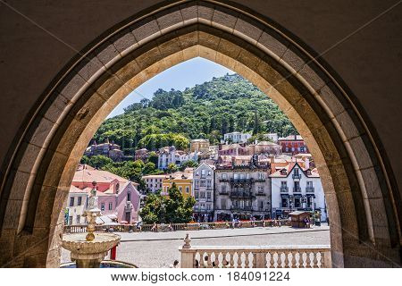 Sintra, Portugal: Historical houses in famous town Sintra.