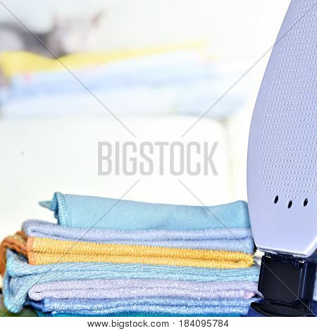 Ironing Linen With Iron