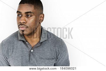 African Descent Man Neutral Candid