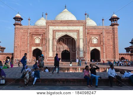 Agra, India - February 19, 2017 Discovering the Love Story Behind the Taj Mahal