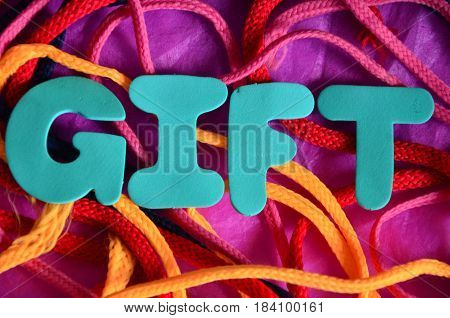 gift word on a  abstract coorful background