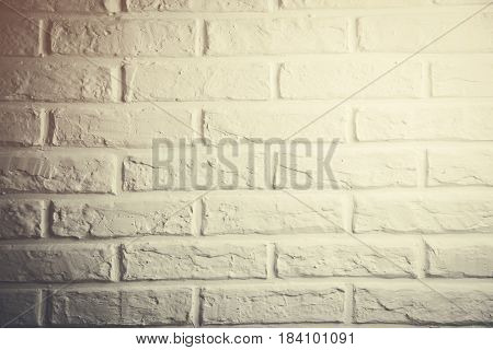 White brick wall texture or wall background