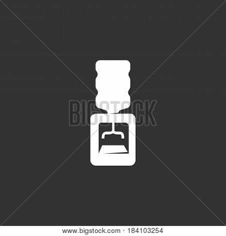 Water Cooler icon in flat style isolated on black background. Office Cooler logo silhouette. Abstract sign symbol pictogram. Vector illustration