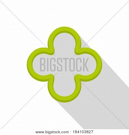 Slice of green pepper icon. Flat illustration of slice of green pepper vector icon for web on white background