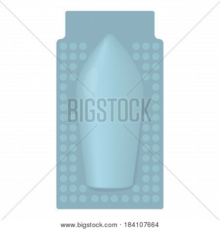 Package of suppository icon. Cartoon illustration of package of suppository vector icon for web