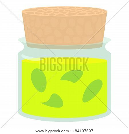 Glass bottle of medical tincture icon. Cartoon illustration of glass bottle of medical tincture vector icon for web