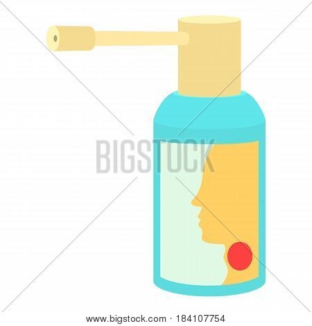 Throat spray medication icon. Cartoon illustration of throat spray medication vector icon for web