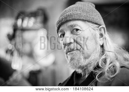 Senior Adult Man Bw