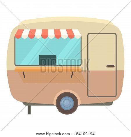 Street food trailer icon. Cartoon illustration of street food trailer vector icon for web