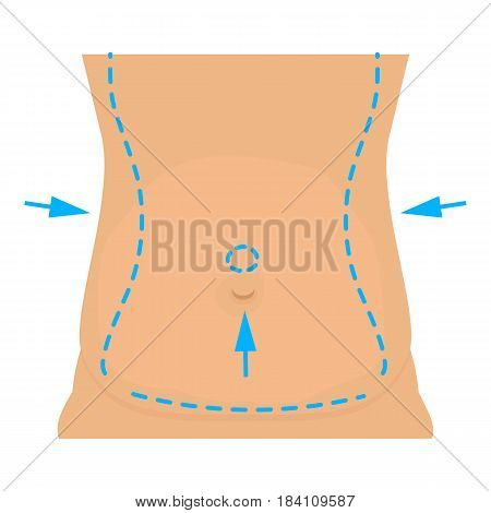 Waist plastic correction icon. Cartoon illustration of waist plastic correction vector icon for web