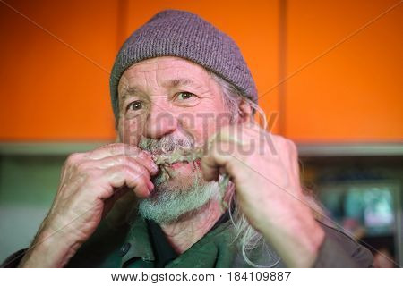 Man Gnawing Bone