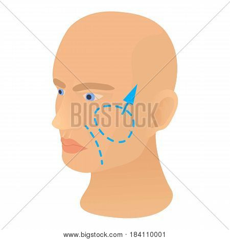 Cheek plastic correction icon. Cartoon illustration of cheek plastic correction vector icon for web
