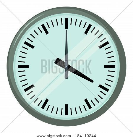 Wall clock icon. Cartoon illustration of wall clock vector icon for web