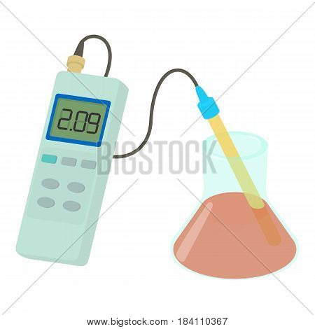 Device for measuring blood coagulability icon. Cartoon illustration of device for measuring blood coagulability vector icon for web