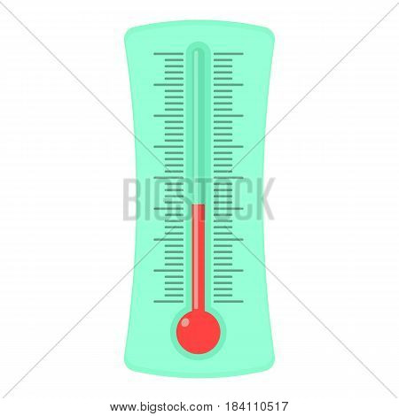 Weather thermometer icon. Cartoon illustration of weather thermometer vector icon for web