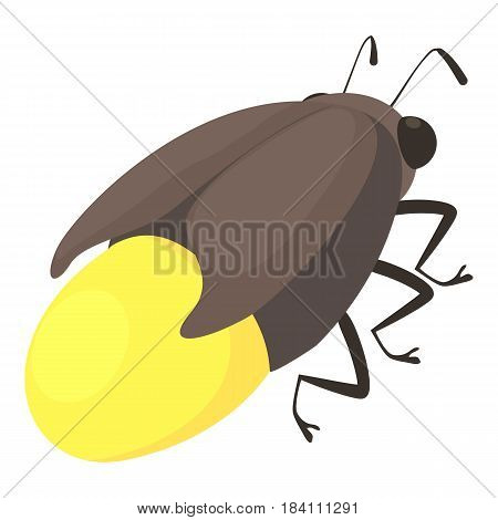 Firefly bug icon. Cartoon illustration of firefly bug vector icon for web