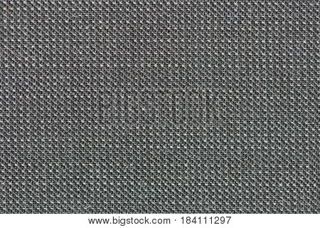 Detailed Close-Up of a gray colored fabric pattern for background purposes