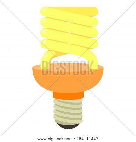 Energy saving bulb icon. Cartoon illustration of energy saving bulb vector icon for web