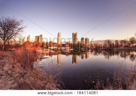 Sunrise at Humber Bay Park, Toronto, Ontario, Canada