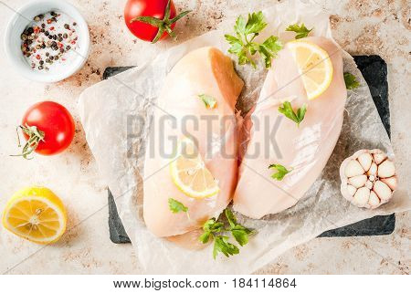 Fresh Raw Chicken Fillet, Breast