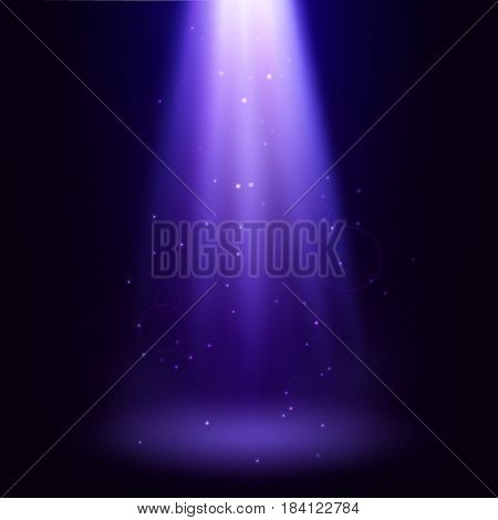 Beautiful abstract background. Vertical fairytale beam searchlight. Vector wallpaper.