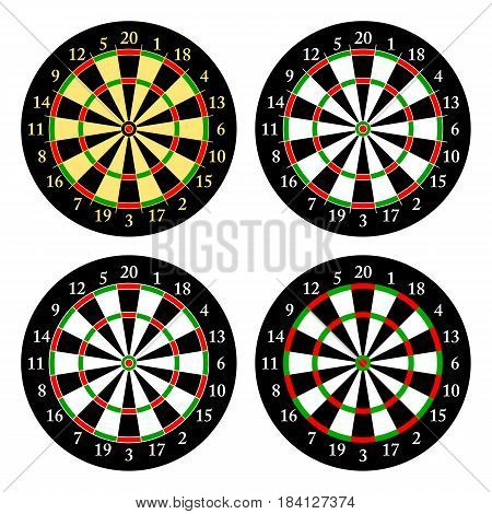 Darts. Set of targets for playing darts. Vector illustration.