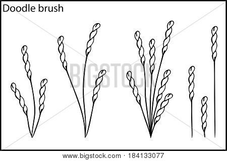 Doodle Brush The Grass And Bushes