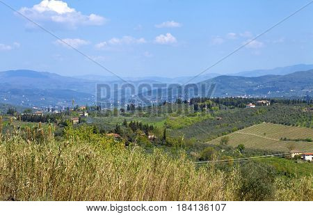 Rural Landscape In Chianti, Italy