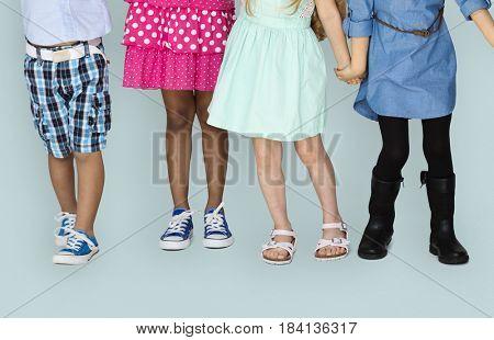Young Kids Dressing Leg Attire